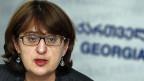 Maia Panjikidze, die Aussenministerin von Georgien.