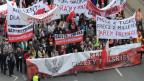 Demonstrationszug in der polnischen Hauptstadt Warschau.