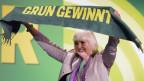 Die Parteivorsitzende Claudia Roth beim Parteitag der Grünen.