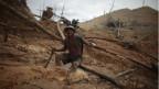 Peruanischer Minenarbeiter.