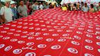 Demonstration gegen die islamistische Regierung Tunesiens, am 7. September 2013.