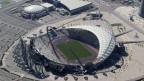 Das Khalifa-Stadion in Doha während der Bauzeit Ende 2008: Bauarbeiter sollen wie Sklaven gehalten werden.