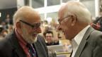 Der Belgier François Englert und der Brite Peter Higgs, am 4. Juli 2012 am CERN in Genf.