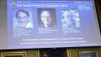 Chemie-Nobelpreis an Martin Karplus (USA/Österreich), Michael  Levitt (USA/Grossbritannien) und Arieh Warshel (USA/Israel).