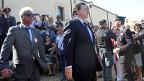 José Manuel Barroso bei der Ankunft auf Lampedusa, am 9. Oktober.