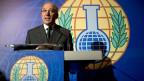 Ahmet Uzumcu, OPCW-Generaldirektor, an einer Medienkonferenz am 11. Oktober in den Haag.