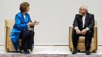 Treffen zwischen der EU-Aussenbeauftragten Catherin Ashton unddem iranische Aussenminister Mohammad Javad Zarif am 15. Oktober in Genf.