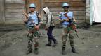 Uno-Soldaten in den Strassen von Goma, im Osten Kongos.
