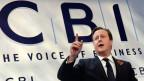 David Cameron sprach vor dem Arbeitgeberverband CBI. Die EU sei zu teuer, zu unflexibel und trage zu wenig zur britischen Wettbewerbsfähigkeit bei.