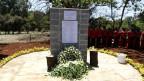 Eine Gedenktafel für die Opfer des Anschlags auf das Westgate Einkaufszentrum