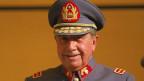 Augusto Pinochet (1915–2006), chilenischer General, Politiker und Diktator. Archivbild vom Oktober 1983.