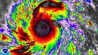 Satelliten-Bild des Taifuns Haiyan am 8. November. Der Wirbelsturm zwingt Millionen von Menschen in die Flucht.
