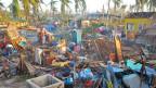 Verwüstetes Quartier im Zerstörungsgebiet des Taifuns