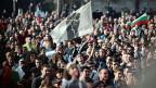 Proteste gegen die bulgarische Regierung, am 10. November in Sofia.