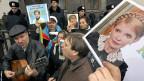 Unterstützer von Julia Timoschenko vor dem Parlamentsgebäude in Kiew, am 13. November.
