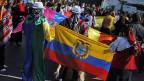 Proteste gegen Chevron und die Verschmutzungen in der ecuadorianischen Amazonas-Region.