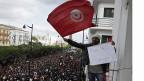 Demonstration gegen den tunesischen Präsidenten Ben Ali in Tunis, am 14. Januar 2011.