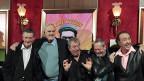 Michael Palin, John Cleese, Terry Jones, Terry Gilliam und Eric Idle im Oktober 2009 in New York.