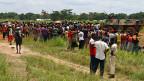 Ende August 2013 suchen Flüchtlinge Schutz beim Flughafen von Bangui, der Hauptstadt der Zentralafrikanischen Republik.