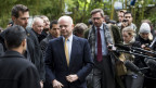 Der britische Aussenminister William Hague trifft in Genf ein