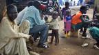 Viele Menschen sind vor der Gewalt der Seleka-Milizen nach Bossangoa, im Norden der Zentralafrikanischen Republik, geflohen.