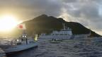 Der Streit zwischen Japan und China dreht sich um die winzigen Sekaku-Inseln, chinesisch Diaoyu-Inseln.