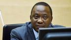 Der kenianische Präsident Uhuru Kenyatta am 21. September 2011 vor dem ICC in den Haag.