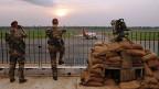 Französische Soldaten auf dem Flughafen von Bangui, der Hauptstadt der Zentralafrikanischen Republik.