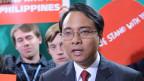 Der Delegierte der Philippinen, Yeb Sano,  bat an der Klimakonferenz in Warschau am 19. November 2013 unter Tränen, den Wahnsinn des Klimawandels zu stoppen.