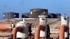 Hariga, der Ölhafen von Tobruk in Libyen.