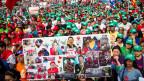 AnhängerInnen der sozialistischen Regierungspartei in Caracas