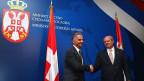 Die Aussenminister von Serbien und der Schweiz