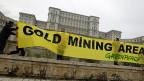Proteste gegen eine geplante Goldmine in Siebenbürgen, am 9. Dezember vor dem Parlament in Bukarest.