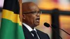 Südafrikas Präsident Jacob Zuma. An der Trauerfeier für Nelson Mandela wurde er ausgebuht. Er wird in nächster Zeit einen schweren Stand haben.