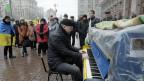 Die pro-westlichen Demonstrationen in Kiew halten an.