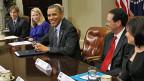US-Präsident Obama am Meeting mit Chefs der führenden Internet- und Technologiefirmen im Weissen Haus.
