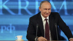 Russlands Präsident Wladimir Putin an der Jahresend-Medienkonferenz in Moskau.