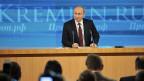 Wladimir Putin an seiner Jahresend-Medienkonferenz in Moskau.