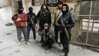 Mitglieder einer islamistischen syrischen Rebellengruppe in Aleppo.