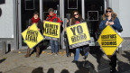 Proteste gegen den Gesetzesentwurf Rajoys gegen die Fristenlösung.