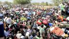 Tausende Zivilisten suchen Schutz vor der Gewalt. Flüchtlingslager der Uno in der Nähe der Ortschaft Bor.