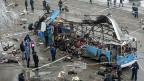 Beim Selbstmordattentat in einem Wolgograder Bus kamen mindestens 14 Menschen ums Leben.