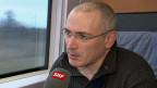 Michail Chodorkowski auf der Bahnfahrt von Berlin nach Basel.
