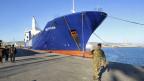 Eines der zwei dänisch-norwegischen Frachtschiffe, die die syrischen Chemiewaffen abtransportieren.
