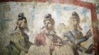 Ein Fresko in einer Römer Katakombe.