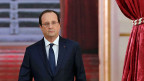 François Hollande auf dem Weg in den Elysée-Palast - zur Medienkonferenz über die neue französische Wirtschaftspolitik.