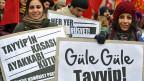 Demonstration gegen die Korruption in der türkischen Regierung.