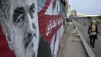 Ein Wandportrait des 2005 ermordeten libanesischen Premiers Rafik Hariri, Beirut am 15. Januar.
