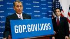 Mehr staatlich Programme - das lässt die US-Republikaner normalerweise aufjaulen. Doch nun tönt es plötzlich anders. Republikaner John Boehner an einer Medienkonferenz am 14. Januar.