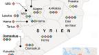 Politische Karte Syriens